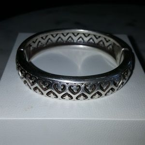 BRIGHTON 1/2 HEART CUFF BANGLE